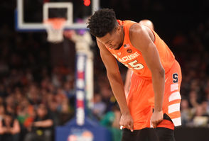 It went from bad to ... still bad in Madison Square Garden last week. The Orange came into New York shooting 18.2 percent from the 3-point line. In two games in the Garden, SU shot 22 percent from the 3-point line. The quad four core of Oshae Brissett, Tyus Battle, Elijah Hughes and Buddy Boeheim made 9-of-43 3-pointers in the Garden. That's 21 percent. That quartet, as a whole, is shooting 18 percent from the 3-point line this season. The raw numbers: Brissett (4-21), Battle (1-11), Hughes (6-24), Boeheim (2-16).  Jalen Carey is 3-for-7 from the 3-point line and Marek Dolezaj made the only three he's attempted thus far. If you're looking for good news, Hughes is improving. He was 1-for-9 going to New York and made 5-of-15 at the Garden. SU, incidentally, ranks 345th nationally in 3-point shooting right now. Last year, it finished the season ranked 324.