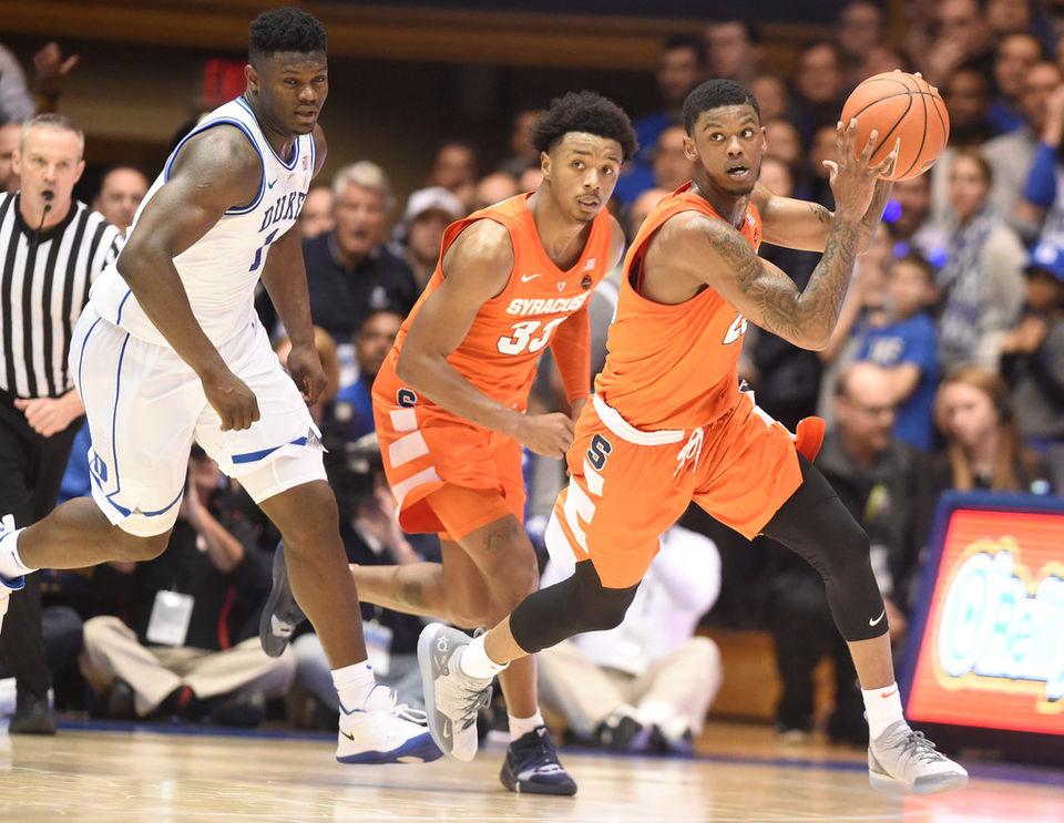 Syracuse Basketball Defeats No 1 Duke 95 91 Brent Axe Recap