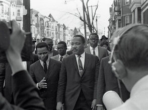 Martin Luther King Jr. takes a walking tour of Newark on March 27, 1968, seven days before he was assassinated in Memphis, Tennessee.