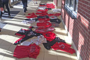 See why dozens of students discarded their Easton Area athletic apparel in protest