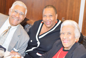 Edgar Chase, left, and Amy Stelly are pictured with 2019 Urban Hero Leah Chase.
