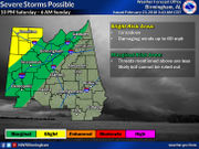 Strong to severe storms possible both Saturday and Sunday
