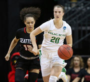 Oregon Ducks open NCAA women's basketball tournament with blowout victory over Seattle