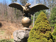 How a two-ton bronze eagle became one of the most unusual sights in the Catskills