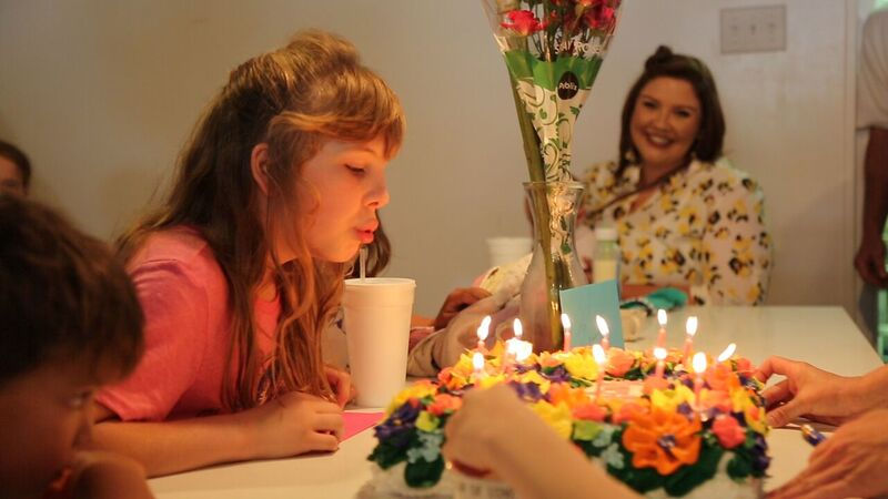 Amy, who was about to turn 13, had never had a birthday party until Savage's Bakery threw one for her.