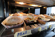 New food at the 2018 Big E: PB&J and jalapeño popper among the sliders offered at The Bud & Burger Pub