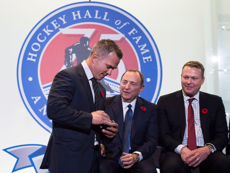 Devils goalie Martin Brodeur inducted into Hockey Hall of Fame
