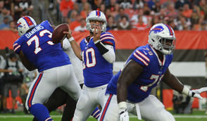 AJ McCarron started at quarterback for the Buffalo Bills in a NFL preseason game against the Cleveland Browns on Friday.