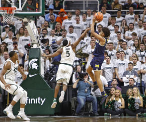 There will be no shortage of predictions heading into the most anticipated Michigan-Michigan State matchup in years this Sunday at Crisler Center. But truth be told, nobody really knows what will make the difference in this clash between top 10 teams. We have some guesses, though, as to players or factors who could make a difference on Sunday in Ann Arbor. Below are some potential X-factors for Sunday's matchup. It's worth nothing that Michigan has won three straight in the series after winning both meetings last season. Michigan has not lost at Crisler Center since Jan. 9 of last season. But the Spartans have seven road wins this season, tied for the third-most among major conference teams and the most among Big Ten teams.