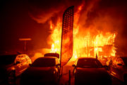 Dramatic photos show how large and damaging the California wildfire is