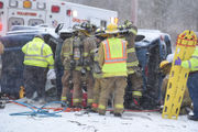 Teen driver trapped in snowy Warren County rollover crash (PHOTOS)