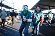 Philadelphia prepares for potential Eagles celebration by greasing light poles