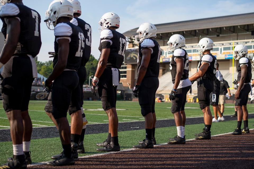 Western Michigan university holds 2nd annual Fan Fest to kick off football season.