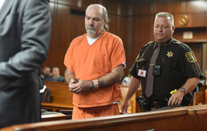 Photos as Tracy Lawrence is sentenced by Jackson County Circuit Court Judge John McBain.