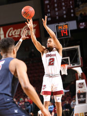 UMass men's basketball defeats Duquesne, as C.J. Anderson posts double-double in final home game