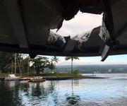Sightseers near Hawaii volcano injured when lava flies into boat