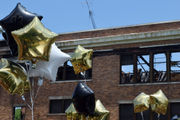 Hundreds celebrate in tribute to fire-damaged Ensley High School