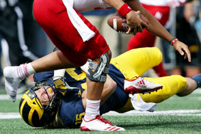 DEFENSIVE LINE Nebraska rushed for 5 yards in the first quarter, and by halftime increased it to six. That's how dominant this Michigan defense was, especially the line, early on. Rashan Gary had two tackles for loss and a sack while Chase Winovich added two tackles and a sack, and the duo played less than a half. That meant more playing time for Kwity Paye (who left the game with an undisclosed injury) and Aidan Hutchinson, while Carlo Kemp got extended playing time at tackle while spelling for Aubrey Solomon. After the game, head coach Jim Harbaugh praised the front four -- and linebackers -- for their swarming play early on. An all-around spectacular outing for the group. Grade: A