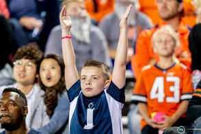 Penn State faces in the crowd from a Friday night in Illinois.