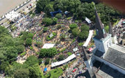 See a spectacular French Quarter Fest 2018 helicopter video and photos