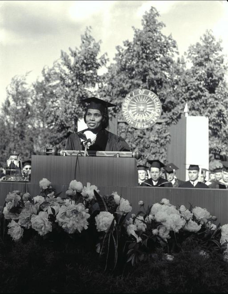 1959 : Marian Anderson, 1st African American Commencement Speaker at University of Michigan