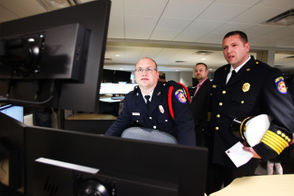 Only two weeks away from taking its first emergency call, the consolidated center in Kalamazoo County was unveiled.