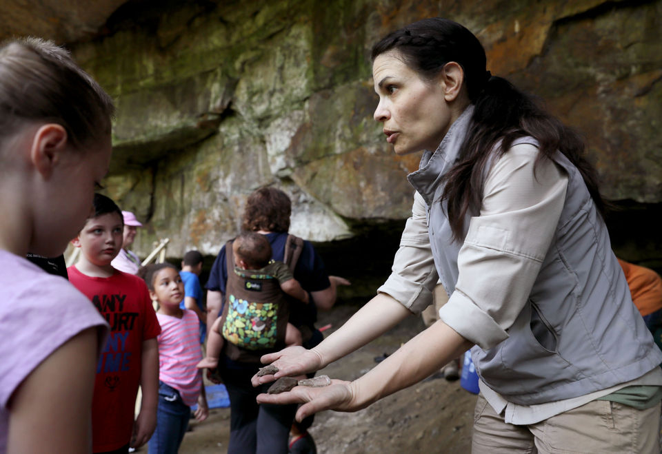 Archeologists dig for history of Mary Campbell Cave in Summit County's Gorge Metro Park