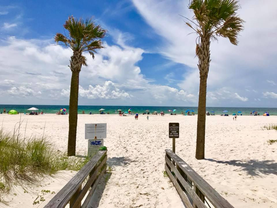 """<p><strong>What:</strong> Gulf State Park includes 3.5 miles of sugar-white sands and the warm water of the Gulf of Mexico -- just pack up a chair, your bathing suit, towels, sunscreen and maybe a few sand toys and you're all set.</p> <p><strong>Where:</strong> Beach Pavilion, 2.7 miles east of Ala. Hwy. 59</p> <p><strong>Website:</strong> <a href=""""http://www.alapark.com/gulf-state-park-beaches"""">www.alapark.com/gulf-state-park-beaches</a></p>"""