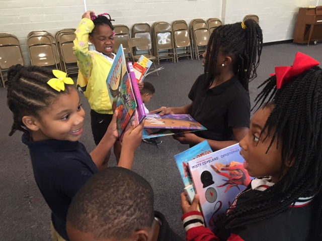 People across the country donated 1,300 books to Robinson Elementary School in Fairfield during its