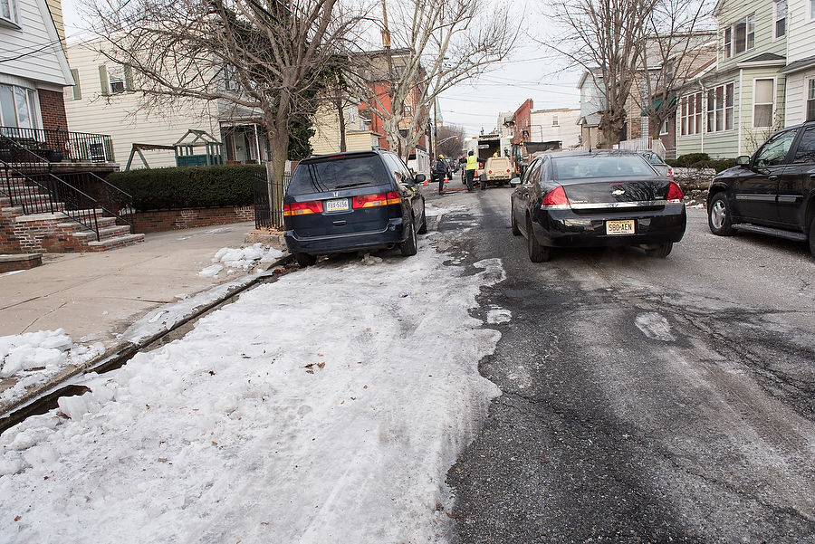 Water main break leaves thick sheet of ice on Bayonne street (PHOTOS)