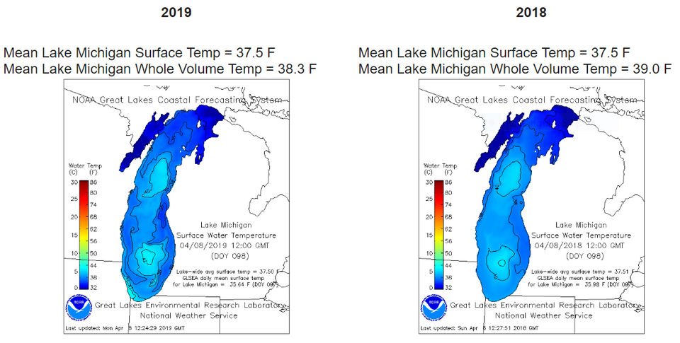 Flipboard: Great Lakes ice going fast, but water temps still