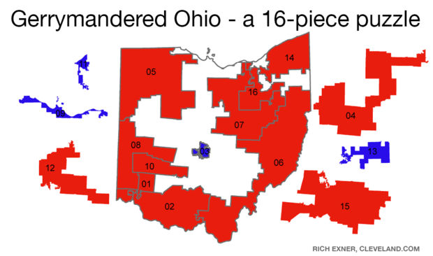 Look at these maps and cast your vote for Ohio's worst gerrymandered congressional district (poll)