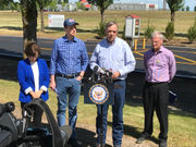 Jeff Merkley visits tent city that holds immigrants, calls for contract canceled