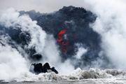 Lava from Hawaiian volcano enters ocean, creates toxic cloud (photos)
