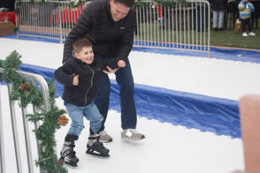 """""""It's a fundraising charity for Michael's Cause,"""" said Brandi Fallon, a coordinator of the event. """"Angelina does this every year for the kids. We have performances, our vendors are here. It's an event for everyone to enjoy Christmas."""" In the photo above, Anthony Stark, 4, of Annadale ice skates at Angelina's 8th Annual Tree Lighting Ceremony."""