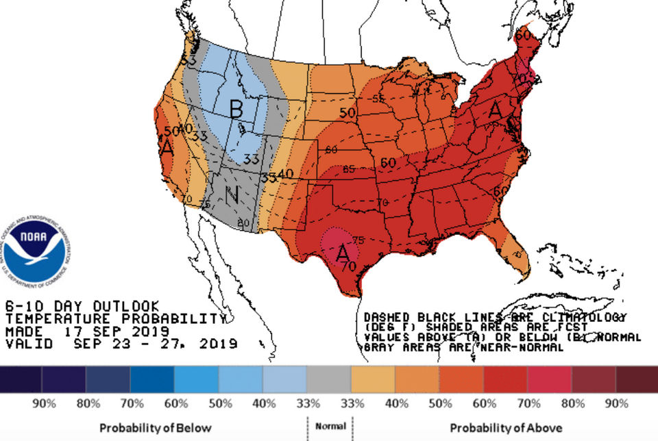 Summer's not budging over Great Lakes, Michigan, and fall's nowhere in sight