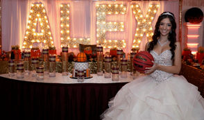 """STATEN ISLAND, N.Y. -- Alexandra Licata --or Alex as she's affectionately referred --held center court at her """"Sweet 16,"""" a fun and fab soiree staged at the Excelsior Grand, the time-honored New Dorp banquet facility owned by the Campitiello family. Alex chose an unusual theme for her memorable birthday bash -- and all for good reason. Because of her passion for the sport of basketball -- she's a member of the varsity basketball team at St. Joseph Hill Academy -- it was a no brainer."""