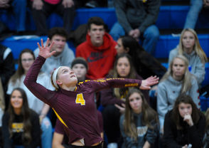 Eight teams in each division claimed regional volleyball titles Thursday, leaving them three steps from a Michigan high school state championships. Quarterfinals in Division 1 through Division 4 are Tuesday, with winners advancing to the semifinals and finals at Kellogg Arena in Battle Creek. Division 2 and Division 3 semifinals are Thursday, Nov. 15, while Division 1 and Division 4 semifinals are Friday, Nov. 16. Finals are Saturday, Nov. 17, at Kellogg Arena with Division 4 starting at 10 a.m., followed by Division at noon, Division 1 at 2 p.m. and Division 2 at 4 p.m.