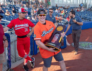 Oregon State Beavers celebrate 2018 College World Series title at Hillsboro Hops game