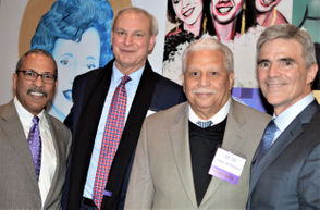 Left to right,  NOLA Media Group Executive Vice President and Publisher David Francis, and honorees Greg Rusovich, Alden McDonald, and Doug Thornton.