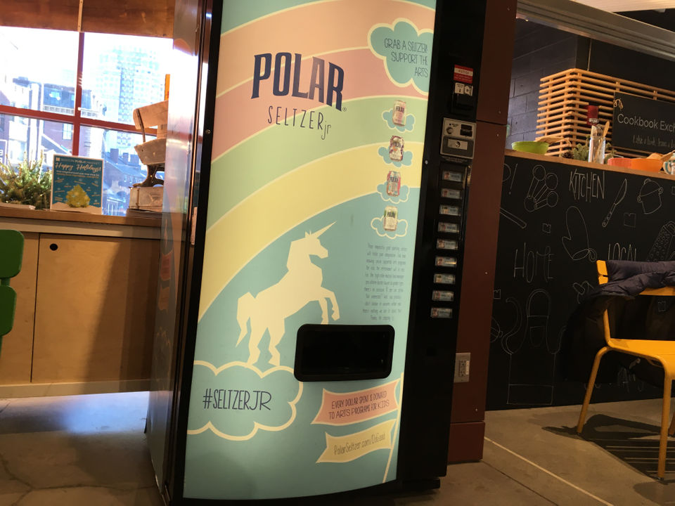 Polar Beverages placing vending machines filled with 'mythical flavored seltzers' across Boston