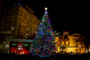 Thousands flood Pioneer Courthouse Square for 34th Annual Tree Lighting Ceremony (photos)