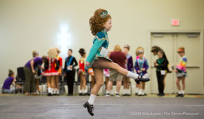 Dara Anne James, 8, competes during the Krewe of Eire Feis at the Crowne Plaza New Orleans Airport Hotel in Kenner on Saturday, January 19, 2019. More than 140 dancers are competing in the competition from beginners to championship levels. The Muggivan School of Irish Dance is hosting the competitions. Competition will continue Sunday with the Jazz Feis. (Photo by Brett Duke, NOLA.com | The Times-Picayune)