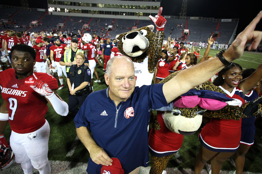 South Alabama's Steve Campbell set to face alma mater, but not making a big deal...