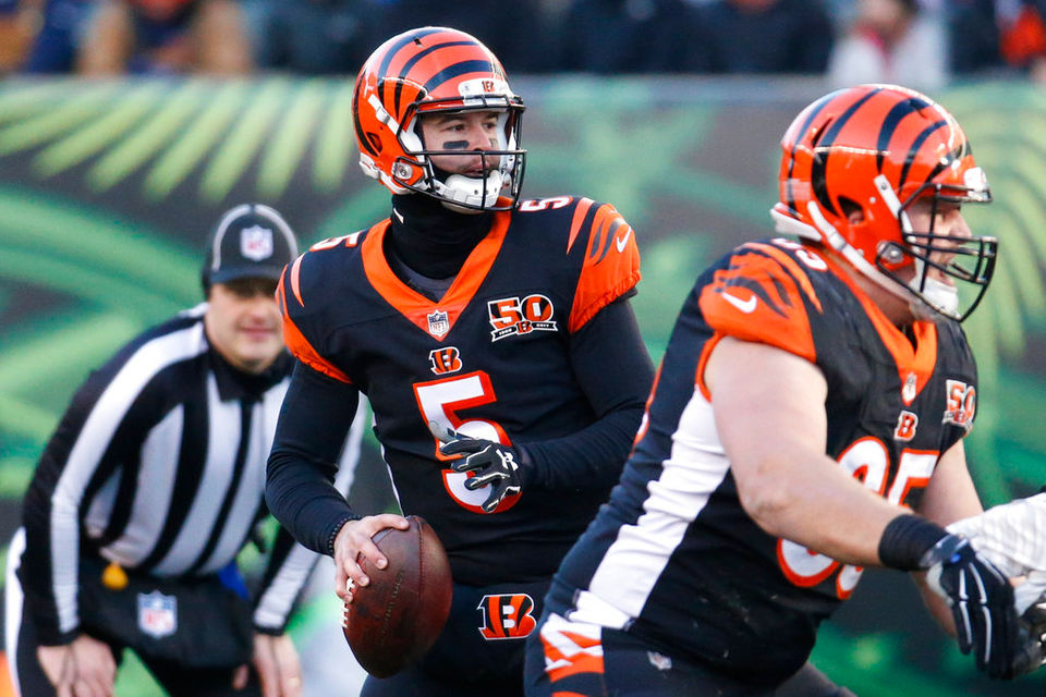 Buffalo Bills' new center backs AJ McCarron as starting QB