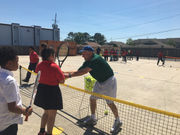 Kids on the Ball brings tennis to Marrero elementary school