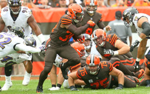 CLEVELAND, Ohio -- Two days before the Browns take on the Tampa Bay Buccaneers on Sunday, the team sent running back Carlos Hyde to another Florida team. Hyde was dealt to the Jacksonville Jaguars in exchange for a 2019 fifth-round pick. The former Ohio State running back led the team in rushing with 382 yards and five touchdowns. The move seemingly came out of nowhere, catching people on social media by surprise. Here is some of the best and most notable reaction to the news. Also, check out the picks the Browns now have for the 2019 NFL Draft.