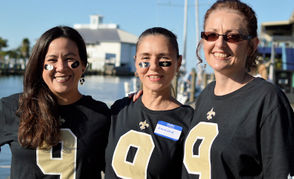 """MS Warriors for a Cause"" team members, left to right, Omaira Delisle, Louanne Cho, and Crystal Smith."