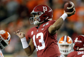 """""""Tank for Tua"""" became a social media hashtag because he is considered a sure thing -- maybe the surest since Andrew Luck in 2012 -- as the No. 1 overall pick in 2020. Actually, some experts think he would be the No. 1 pick in 2019 if eligible. Well, Tagovailoa was before his ugly end to the season, when backup Jalen Hurts rescued Alabama and his injured teammate in the SEC Championship Game and then Clemson's NFL-caliber defense confused him in the College Football Playoff Championship Game. One game wont make that much of a difference, especially with a whole season to play in 2019. There are no left-handed quarterbacks in the NFL. That will change. He benefits from the similarly sized Russell Wilson's success and from his own ability to visualize throws before they happen."""