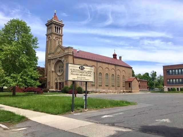 This former Catholic church and school compound on Main Street in West Springfield's Merrick neighborhood is slated to become the new Hampden Charter School of Science western campus in September 2018.
